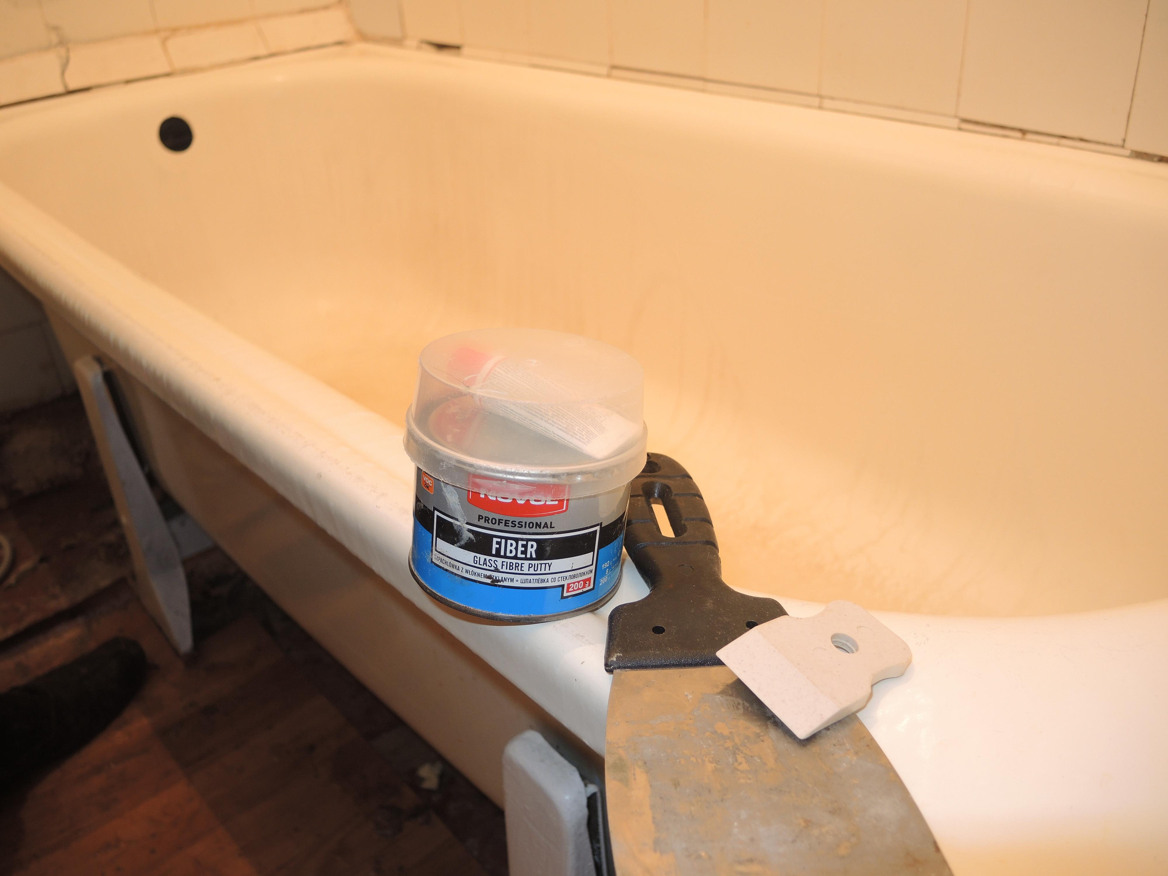 Отремонтировать акриловую ванну своими руками
